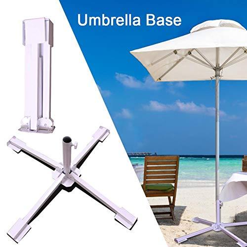 NOWAYTOSTART Sonnenschirmständer tragbare schirmständer Sonnenschirm,Sockel Schirmhalter Gartenmöbel & Zubehör,Einstellbare,für 3,5-3,8 cm Schirmstange -