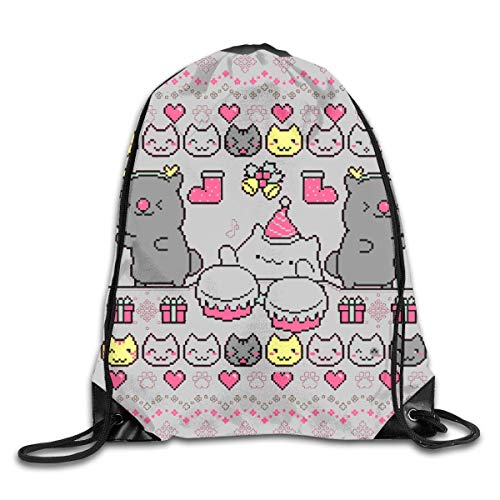 YuYfashions Men Women Brave Bongo Cat Dance Gym Drawstring Drawstring Backpacks Shoulder Bags Sport Sack Backpack for Home Travel Exercise Beam Mouth Package A3782 Rucksack mit Kordelzug