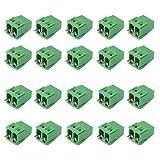 20pz Del Plug-in Dg128 Morsettiere 2pin Vite Kf128-2p Passo Di 5,08 Mm 300V / 10a