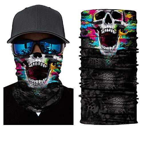 ILOVEDIY Tour de Cou Moto Tete de Mort Clown Crane Cagoule Masque  Multifonction Homme Halloween Deguisement 418ced5bdbd