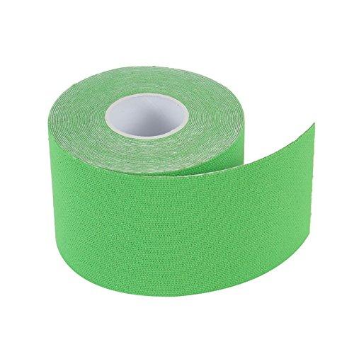 2-TECH Hautfreundliches Kinesiologie Tape 5 cm x 5 Meter in Grün für elastische Tapeverbände