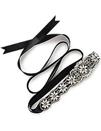 SWEETV Correas Cinturón de Diamantes Cinturones de Perla Para las Partido de la Tarde Boda Nupcial Mujeres Niñas