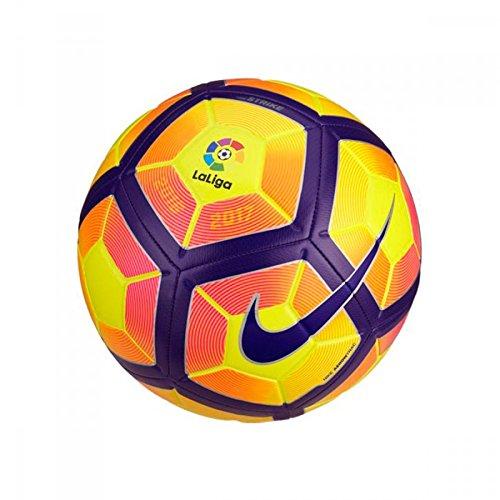 Nike Strike La Liga Balón, Unisex adulto, Amarillo (Yellow / Purple / Black), 5