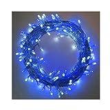 YOSION 400 LED Lichterkette, Blau und Weiß Kombination, Mit Niederspannung Transformator, 8 Modi, Für Innen und Außen Weihnachten Hochzeit Party Zuhause Garten