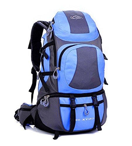 ShangYi Uomini e donne borsa a tracolla grande capacità impermeabile Zaini outdoor zaino 45L , lilac Light Blue