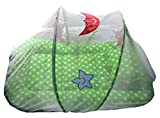 #6: Cheesy Cheeks Baby Mattress with Mosquito Net large With Soft Toys (Colours AND Print May Vary)
