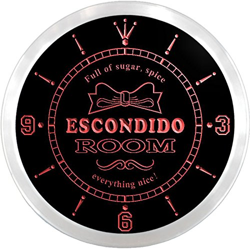 ncpe2221-r-escondido-girl-princess-kids-room-night-light-neon-sign-led-wall-clock