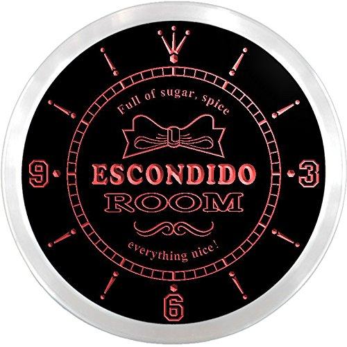 ncpe2221-r-escondido-girl-princess-kids-room-night-light-neon-sign-led-wall-clock