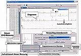 Mobile tragbare professionelle EKG Geräte-3-12 Kanal-Anleitung mit deutschen Ausführungen-Vorhofflimmern Neuestes Modell: Portables Hand EKG Gerät für Langzeit Messung 24 STD. OD. 30 SEK.-1 bis 3 Kanal Darstellung Test