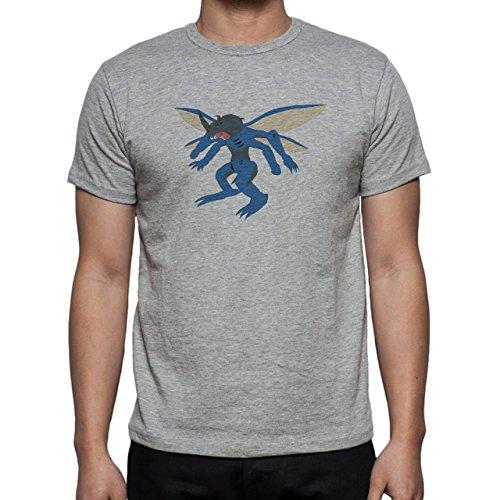 Digimon Tentomon Bug Kabuterimon Blue Herren T-Shirt Grau