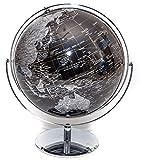 Globe of the World Globe of the World 25,4 cm, Schwarz/silberfarben