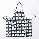 eazyhurry lino y algodón Tejido Lovely Little Animal Impresión Cabestro ajustable mujeres cocina Chef delantal adulto niños babero Delantal, White Polar Bear, 22