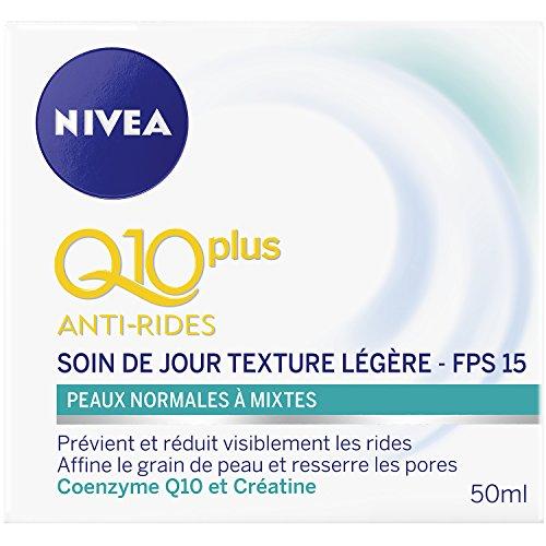 Nivea Q10+ Anti-Rides Soin de jour Texture Légère Peaux Normales à Mixtes 50 ml