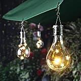 Gaddrt Solarlampe Wasserdichter Drehbarer Garten im Freien Camping Hängeleuchte Licht Outdoor (Gelb)