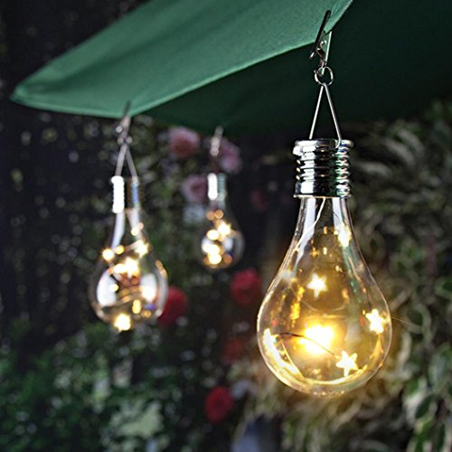 Gaddrt Solarlampe Wasserdichter Drehbarer Garten im Freien Camping Hängeleuchte Licht Outdoor (Gelb) (Dunkles Holz Wallpaper)