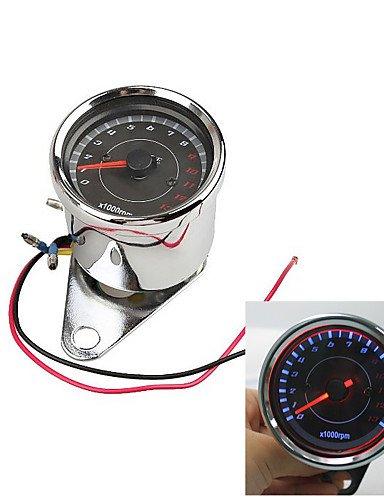 K-NVFA Motorrad-Geschwindigkeitsmesser Tachometer Kilometerzähler Drehzahlmesser 0 bis 13.000 rpm #-3475