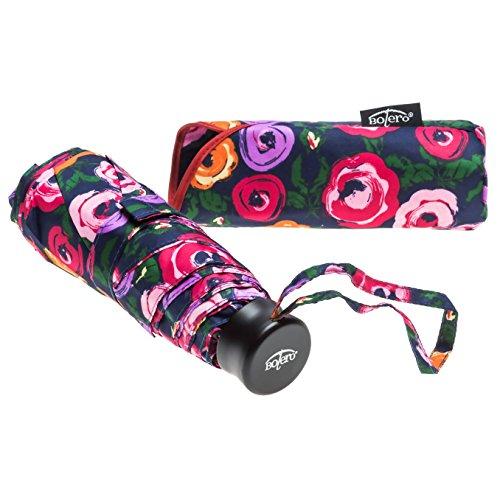 Bolero ombrelli - ombrello mini da pioggia pieghevole antivento di alta qualità - apertura manuale - tessuto pongee 190t - portatile da borsa e tascabile - uomo donna