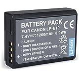 BPS Batterie de rechange CANON LP-E10 pour appareil photo Canon EOS1300D 1200D 1100D