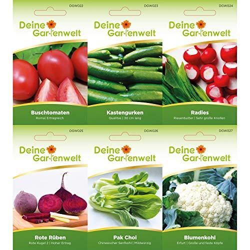 Gemüsesortiment   Gemüse-Set mit 12 Sorten Samen   Gemüsesamen-Sortiment   Saatgut für den Gemüsegarten - 2