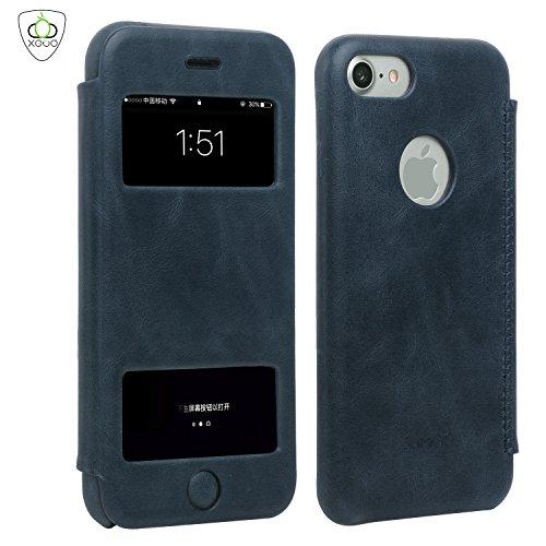 SUMGO® Apple iPhone 7 Plus Flipcase Caso Vera Pelle Custodia