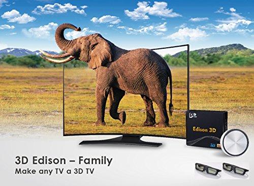 3D Edison Family - Make Any TV a 3D TV (2 x 3D Shutter Glasses)