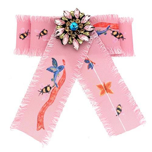 Sweet Deluxe Brosche Gabriella, Rose/Multi I ausgefallene Blusenbrosche für Damen & Mädchen I Frauen-Brosche für Abendkleid & Bluse I Anstecknadel