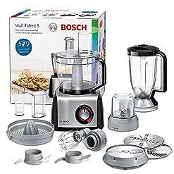Bosch MC812M844 Robot da Cucina Multifunzione, 1250 W, 1,5L/3,9L, Alluminio