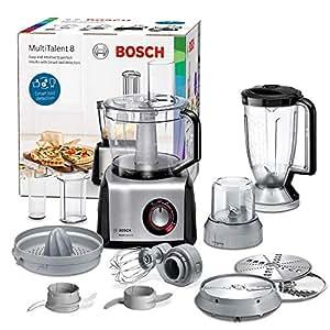 Bosch MC812M844 Robot da Cucina Multifunzione, 1250 W, Alluminio ...