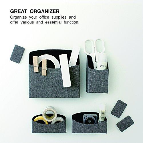 SenseAGE Magic Magnetic Organizer Storage, Desk Storage, Table Basket, Organizer Box, Desk Tray, Desk Organizer (All in One - Combo Set) -