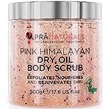 PraNaturals Körperpeeling aus rosafarbenem Himalaysalz 500 g, Von Natur aus reich an pflegenden Mineralstoffen und Vitaminen, Entfernt abgestorbene Hautzellen und regeneriert die Haut