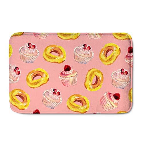 pour U Designs Mignon Flanelle Tapis Dessert Peinture Non Sliping Tapis de Porte d'entrée la moisissure Ypsilon Pad One Size D-color1