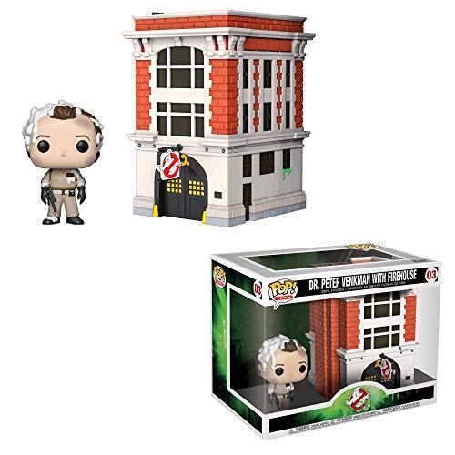 Funko 39454 Pop! Vinilo: Películas: Cazafantasmas: Peter w/House Town Collectible Figura