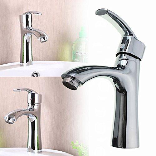 Wasserhahn für Waschbecken, Kupfer Gold Dual Wall Plate