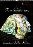 Kunstkalender 2019 - Encaustic und Tuffstein - Skulpturen (Wandkalender 2019 DIN A3 hoch): Bildhauerei mit Tuffstein und Encaustic. (Monatskalender, 14 Seiten ) (CALVENDO Kunst)