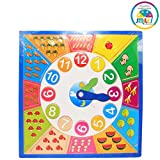 Smiles Creation™ Learning Wooden Activity Clock For Counting Matching Puzzle Toy for Kids