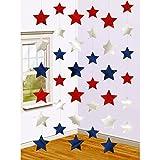 Deko Hänger 6 USA Sternenhänger 210 cm Hängedeko Sterne Hängegirlanden Wanddeko Stern Raumdeko American Stars Wanddekoration Hängegirlande Sternengirlande