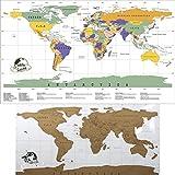 amazon carte monde a gratter