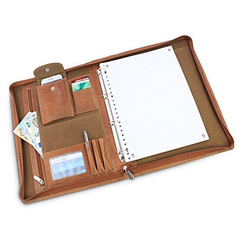 Safekeeper Schreibmappe a4 - Ringbuch - Leder