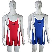 Wesing Freestyle - Traje de lucha para hombre (talla única), color rojo y azul, rojo, 2XL