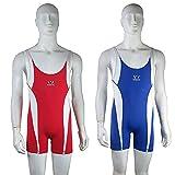 Wesing Einteiler/Bodysuit, Freestyle, Wrestling/Ringkampf, Rot/Blau, rot, Größe S