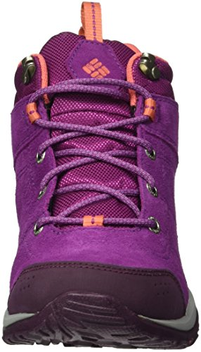 Columbia Fire Venture Mid, Chaussures Multisport Outdoor Femme Violet (Intense Violet/Melonade 519)