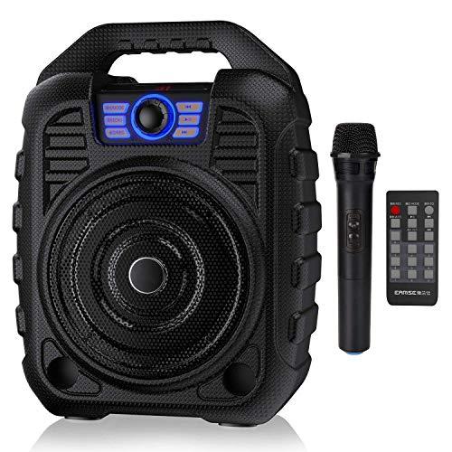 JASZW Tragbarer PA-System-Bluetooth-Lautsprecher Wiederaufladbare Karaoke-Maschine mit drahtlosem Mikrofon, FM-Radio, Audioaufnahme, Fernbedienung, Unterstützung für TF-Karte/USB