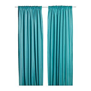 ikea gardinen set vivan zwei gardinenschals in 300 x 145 cm mit kanalsaum verdeckten. Black Bedroom Furniture Sets. Home Design Ideas