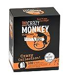 The Crazy Monkey Condoms - Crazy Collection Mix - 100 Kondome mit verschiendenen Aromen, Oberflächen und Farben - Made in Germany