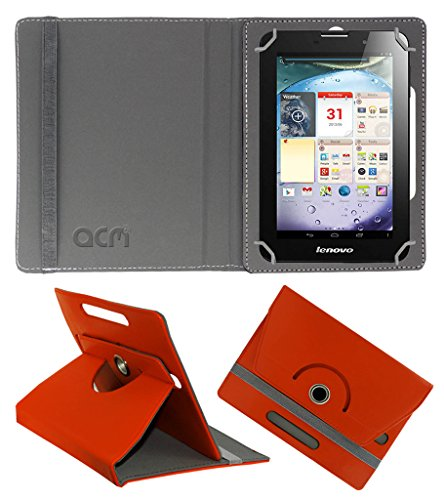 Acm Rotating 360° Leather Flip Case for Lenovo Ideapad A3000 Cover Stand Orange  available at amazon for Rs.149