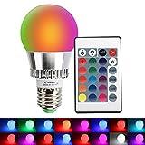 LED RGBW Lampe mit Fernbedienung XJLED 5W E27 Dimmbar Farbige