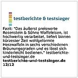 Rosenstein & Söhne Waffeleisen für Herzwaffeln - 7