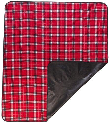 Walser 13635 Coperta da viaggio, coperta da picnic Nessie retro in nylon, 150 x 130 cm, rossa a quadretti