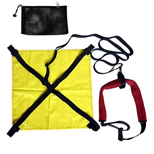 YYST Schwimm-Widerstands-Trainingsleine für Fallschirm, Zuggurt, Abschleppgurt, Trainingsleine