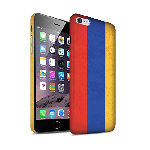 STUFF4 Matte Snap-On Hülle / Case für Apple iPhone 8 Plus / Kuwait Muster / Asien Flagge Kollektion Armenien/Armenisch